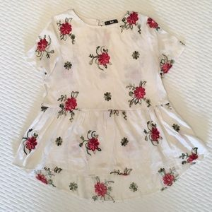 SHEIN Embroidered Floral Shirt